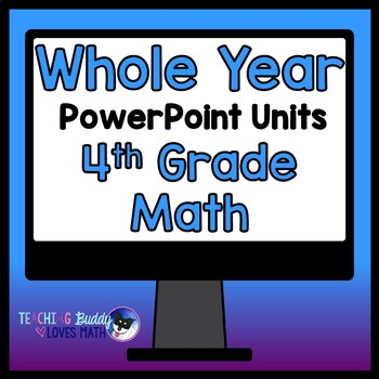 A Whole Year of Math Units 4th Grade Common Core