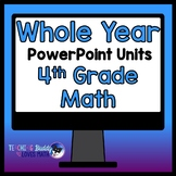 A Whole Year of Math Units 4th Grade Bundle Common Core