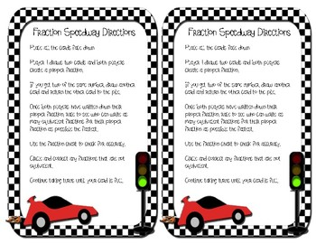 4th Grade Equivalent Fraction Speedway CCSS: 4.NF.A.1