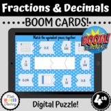 4th Grade Equivalent Fractions and Decimals | Puzzle Game
