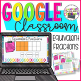 4th Grade Equivalent Fractions using Visuals for Google Classroom 4.NF.A.1