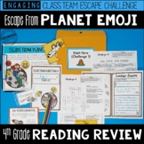 4th Grade Escape Room Test Prep Reading Review: Escape from Planet Emoji!