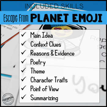 4th Grade Escape Room Year End Reading Review: Escape from Planet Emoji!