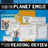 4th Grade Reading Review Game | ELA Test Prep Game Escape Room