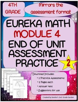 4th Grade Eureka Math End Of Module 4 Assessment Practice Tpt