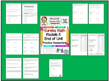4th Grade Eureka Math End of Module 5 Practice Assessment - Fractions