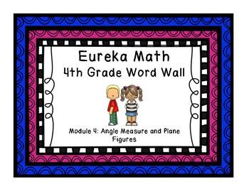 4th Grade Eureka Math EngageNY Word Wall: Module 4