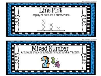4th Grade Eureka Math EngageNY Word Wall: Module 5 and 6