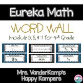 4th Grade Eureka Math EngageNY Word Wall: Module 5, 6, and 7