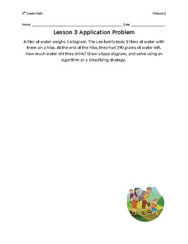 4th Grade Eureka Math Module 2 Application Problems