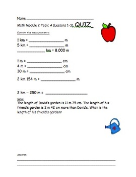 4th Grade Eureka Math Module 2 Topic A (Lessons 1-3) Differentiated Quiz/Review