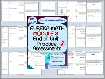 4th Grade Eureka Math Module 3 End of Module Practice Assessments