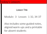 4th Grade Eureka Math Module 3 Lessons 1-37 (except 33) - Multiply and Divide