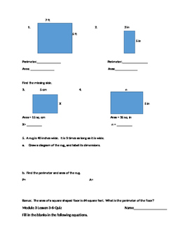 4th Grade Eureka Math Module 3 Topic A-B Quiz