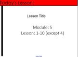 4th Grade Eureka Math Module 5 Lesson 1-10 (excluding 4)-F