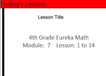 4th Grade Eureka Math Module 7 Lessons 1-14 (Customary Unit Conversions)