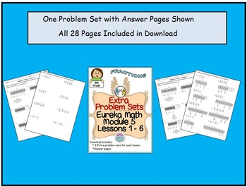 4th Grade Eureka math Module 5 Topic A Lessons 1 - 6 Extra Problem Sets