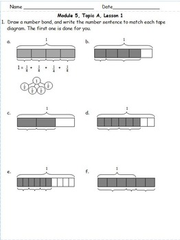 4th Grade Eureka math Module 5 Topic A Lessons 1 - 6 Extra Problem Sets