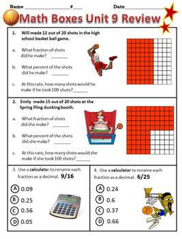 4th Grade Everyday Math Semester Review ~ Units 7 - 12