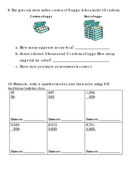 Everyday Math Unit 1: Mid-Unit Assessment
