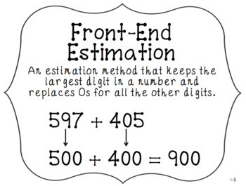 4th Grade Everyday Math Unit 1 Vocabulary Posters & Flash Cards