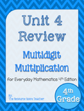 4th Grade Everyday Math Unit 4 Review/Study Guide - 4th Edition