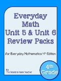 4th Grade Everyday Math Unit 5 & 6 Review BUNDLE