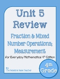 4th Grade Everyday Math Unit 5 Review - 4th Edition