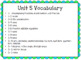 4th Grade Everyday Math Unit 5 Vocabulary Posters & Flash Cards