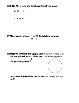 4th Grade Everyday Math Unit 7 Review - Same Format as Test