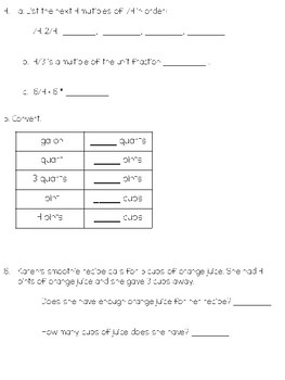 4th Grade Everyday Math Unit 7 Review/Study Guide - 4th Edition