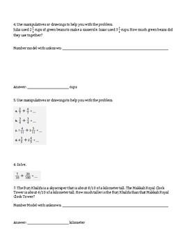 4th Grade Everyday Mathematics / EDM (4) / Math Unit 5 Test Review and Key