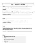 4th Grade Everyday Mathematics / EDM (4) / Math Unit 7 Tes