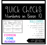 4th Grade Quick Checks Numbers in Base 10