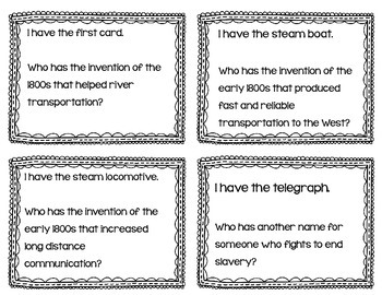 "4th Grade Extras Interactive Vocabulary Game ""I Have, Who Has?"" Cards"