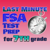 7th Grade Math Florida FSA Printable DISTANCE LEARNING REVIEW / TEST PREP PACKET