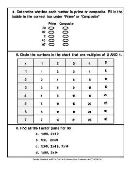 4th Grade FSA Math Assessment- MAFS.4.OA.2.4
