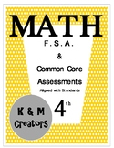 4th Grade FSA Math Assessment for Operations and Algebraic Thinking  {Bundle}