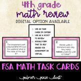 4th Grade FSA Math Test Prep Task Cards or Scoot
