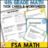 4th Grade FSA Math Test Preparation Worksheets and Task Cards
