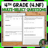 4th Grade Number and Operations Fractions Test Prep