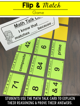 4th Grade Factors, Multiples, Prime and Composite Number Games and Centers