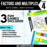 Factors, Multiples, Prime and Composite Number Games and Centers 4th Grade