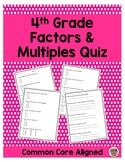 4th Grade Factors and Multiples Quiz
