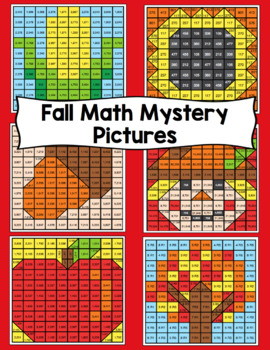 4th Grade Fall Math Mystery Pictures