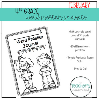4th Grade February Math Word Problems