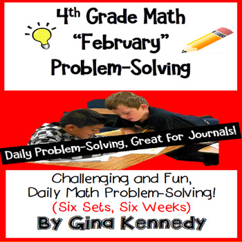 Daily Problem Solving for 4th Grade: February Word Problems (Multi-step)