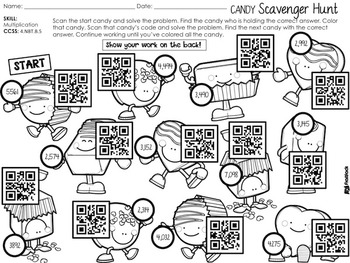 4th Grade February QR Code Printables - Low Prep!