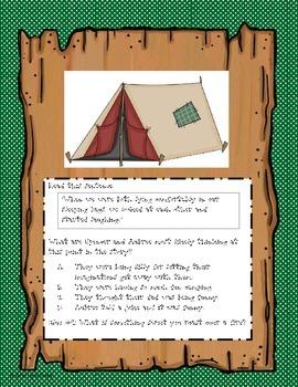 4th Grade Task Cards Fiction Reading Scavenger Hunt- TEKS Aligned STAAR Review