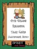 4th Grade Task Cards Fiction Reading Scavenger Hunt- TEKS